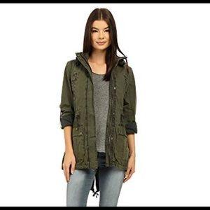 Levi's light weight parka army green jacket women